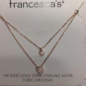 Francesca rose gold necklace